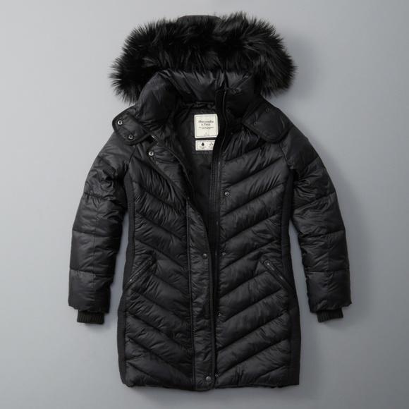 1a7a18ff1 Abercrombie & Fitch L Quilted Faux Fur Parka Coat